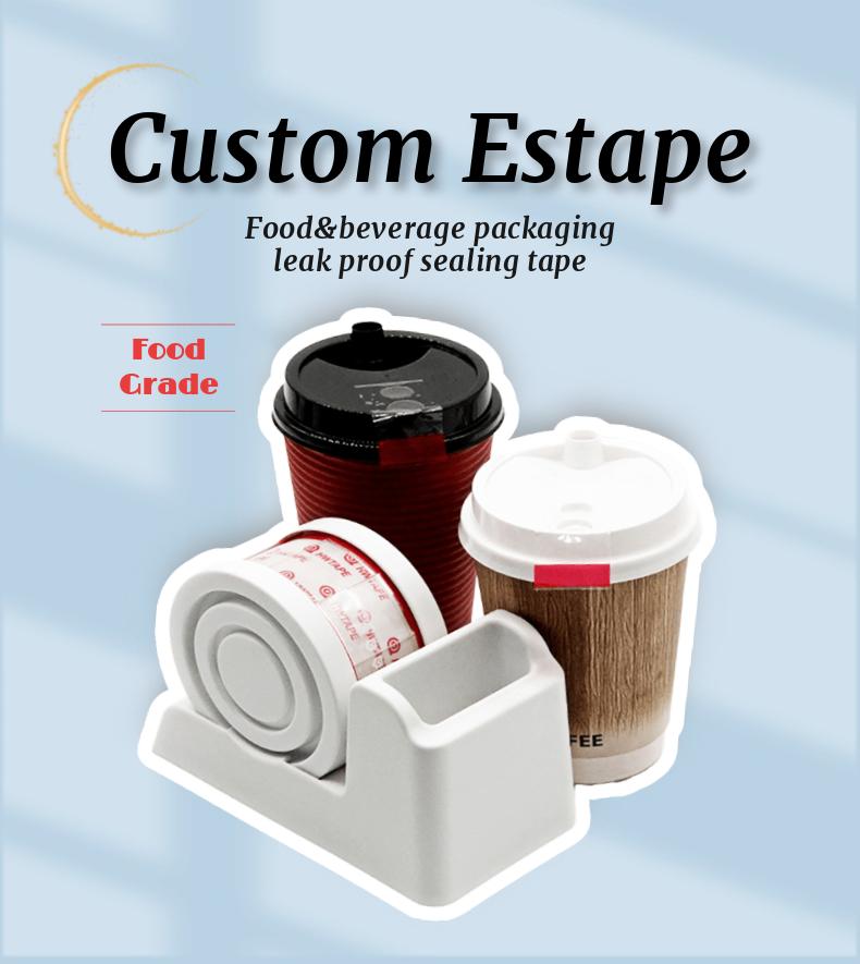 Enostaven tesnilni trak za odtrganje in lepljenje embalaže